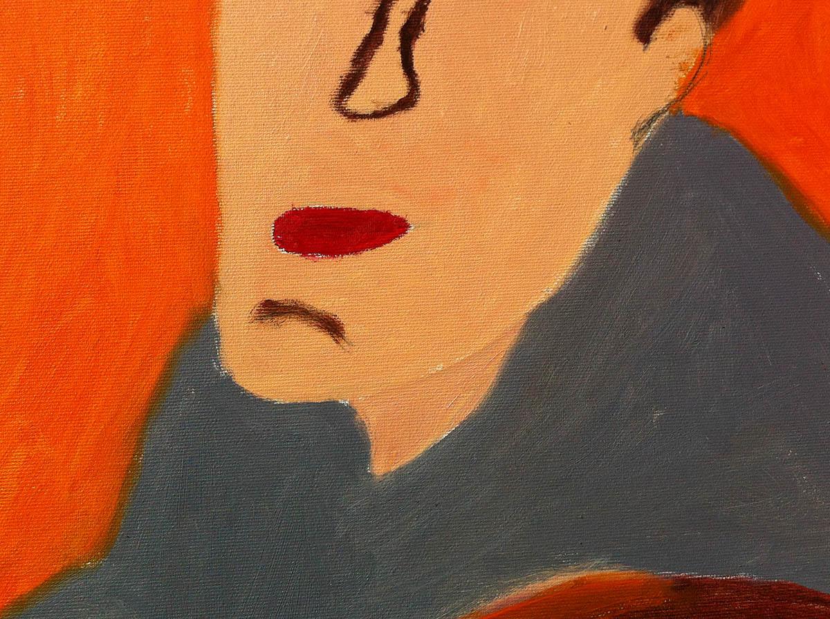 Silvia Mantovani, giugno2014. Particolare di un dipinto di Paolo Tellini