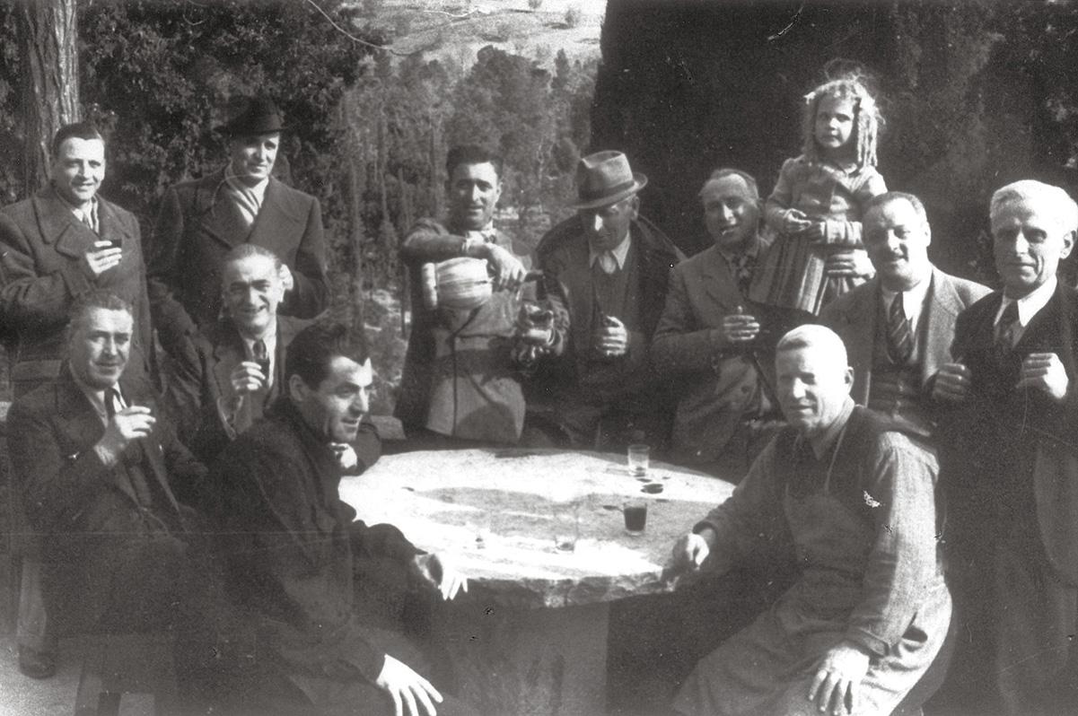 """Collezione R.Jahier, 1935 ca. , Maiano. Trattoria """"Bonechi"""", nel luogo dell'attuale trattoria """"Le Cave"""""""