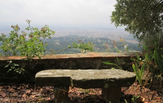 <em>Guido N. Zingari, giugno2014, Fondazione Michelucci. Vista su Firenze dal giardino.  </em>