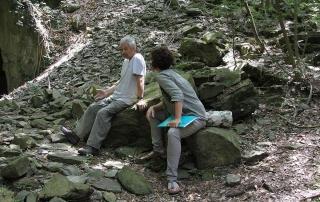 Guido N. Zingari, maggio2014, Montececeri. Valentina Zingari ed Enrico Papini nel parco di Montececeri