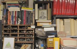 Guido N. Zingari, maggio 2014, Compiobbi. La biblioteca, particolare