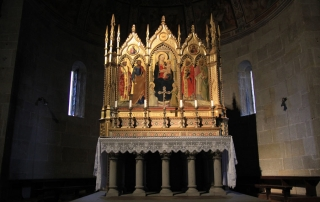 Guido N. Zingari, giugno 2014, Fiesole. L'altare maggiore della Cattedrale con il Trittico di Bicci di Lorenzo (1450)