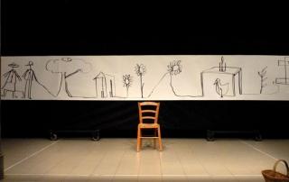 """Chille de la balanza, giugno2014, Teatro Romano di Fiesole. Una scena dallo spettacolo """"La Terra, il Colore"""""""