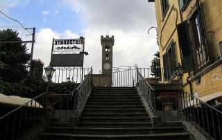 Guido N. Zingari, giugno 2014, Fiesole. La salita a Piazza Mino dall'Hotel Aurora