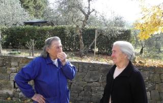 Lilli Bacci, novembre 2011, Fiesole. Silvana Boni e Irma Valoriani