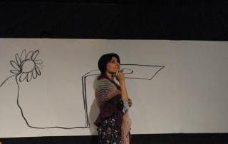 """Chille de la balanza, giugno2014, Teatro Romano di Fiesole. Monica Fabbri interpreta Silvana Boni nello spettacolo """"La terra, il colore"""""""