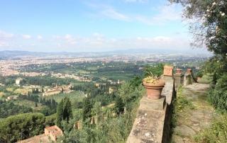 Lena Duffield, maggio 2014, Fiesole. Panorama dal giardino della Fondazione Michelucci